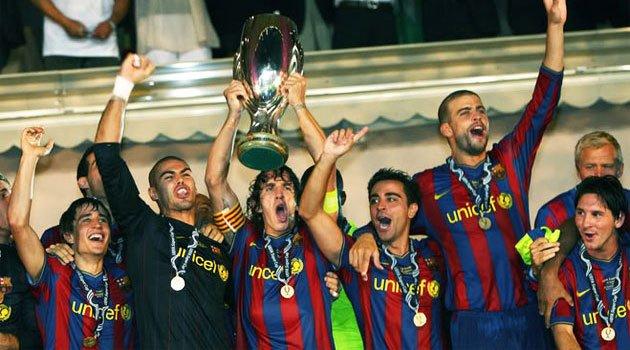 FC Barcelona, câştigătoarea Supercupei Europei în 2009