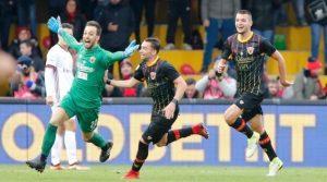 Alberto Brignoli a marcat în meciul Benevento - Milan 2-2