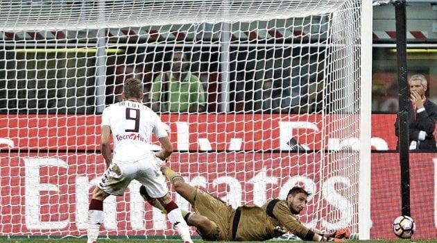 Andrea Belotti a ratat un penalty în meciul Milan - Torino 3-2 de anul trecut