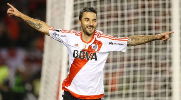Ignacio Scocco a marcat cinci goluri în meciul River Plate - Jorge Wilstermann 8-0