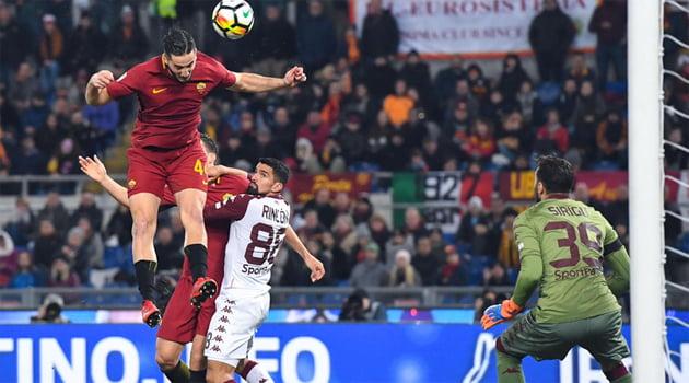 Konstantinos Manolas a deschis scorul în meciul AS Roma - Torino 3-0