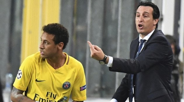 Neymar, Unai Emery (Paris Saint-Germain)