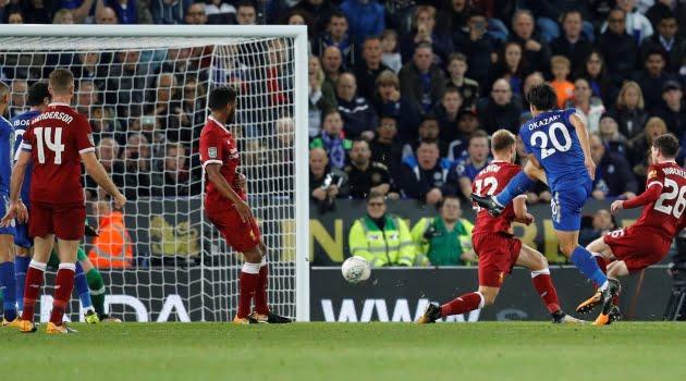 Shinji Okazak a deschis scorul în meciul Leicester - Liverpool 2-0