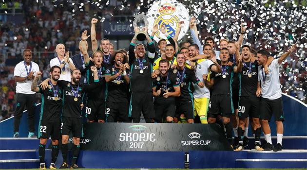 Real Madrid, câștigătoarea Supercupei Europei 2017