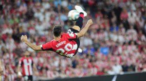 Golul marcat din foarfecă împotriva Barcelonei, ultimul din cariera lui Aritz Aduriz