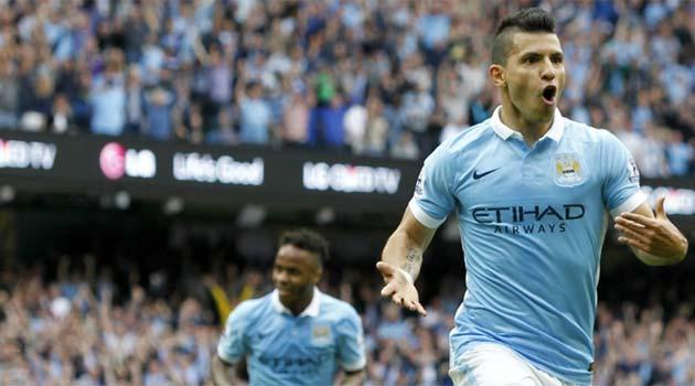 Kun Aguero a marcat primul gol al meciului Manchester City - Chelsea 3-0