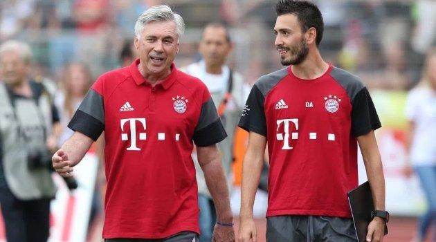 Carlo Ancelotti alături de fiul său, Davide