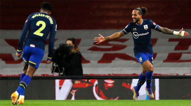 Theo Walcott a marcat împotriva fostei sale echipe în meciul Arsenal - Southampton 1-1