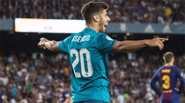 Marco Asensio, Real Madrid, după golul marcat pe Camp Nou în turul Supercupei Spaniei 2017