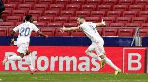 Karim Benzema a marcat golul egalizator în meciul Atletico - Real Madrid 1-1 (7 martie 2021)