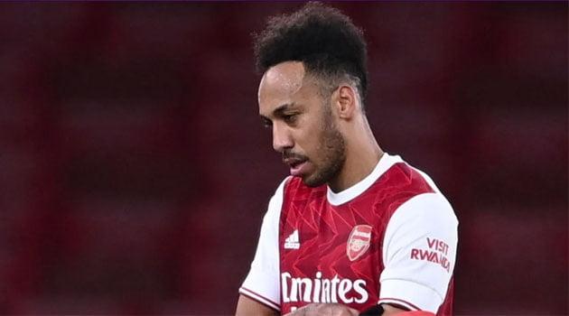 Pierre-Emerick Aubameyang în meciul Arsenal - Burnley 0-1