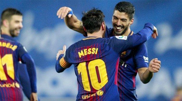 Suarez și Messi, marcatori în meciul Barcelona - Alaves 2-1