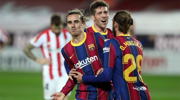 Antoine Griezmann, autorul golului decisiv în meciul Barcelona - Bilbao 2-1 (31 ianuarie 2021)