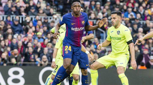 Barcelona - Getafe, primul meci pentru Yerry Mina ca titular la FC Barcelona