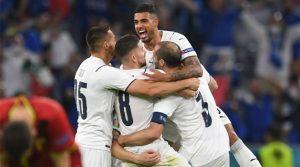 Italia a câștigat meciul cu Belgia, scor 2-1, în optimile EURO 2020