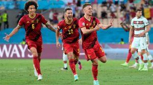Șutul magnific al lui Thorgan Hazard a decis meciul Belgia - Portugalia 1-0 din optimile EURO 2020