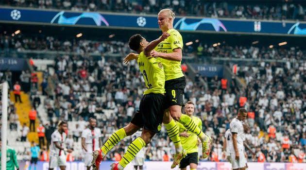 Bellingham și Haaland, marcatori pentru Borussia Dortmund în meciul din deplasare cu Besiktas