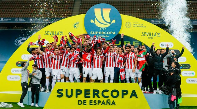 Athletico Bilbao, câștigătoarea Supercupei Spaniei după 3-2 cu Barcelona