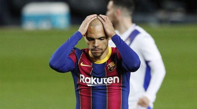 Braithwaite a ratat un penalty în meciul Barcelona - Eibar 1-1
