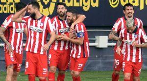 Atletico Madrid în victoria de la Cadiz, (31 ianuarie 2021)
