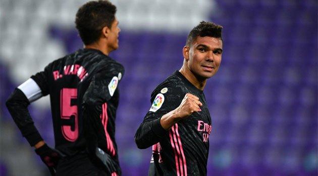 Casemiro, autorul unicului gol al meciului Valladolid - Real Madrid 0-1