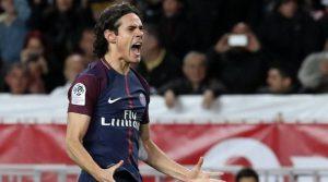 Edinson Cavani a deschis scorul în meciul Monaco - Paris Saint Germain 1-2