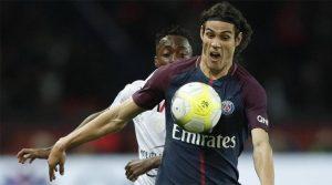Edinson Cavani a marcat două goluri în meciul Paris Saint-Germain - Nice 3-0