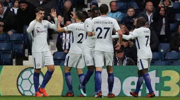 Alvaro Morata a deschis scorul în victoria lui Chelsea cu West Brom