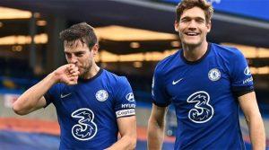 Cesar Azpilicueta și Marcos Alonso, marcatorii meciului Chelsea - Burnley 2-0 (31 ianuarie 2021)
