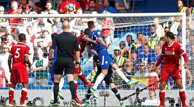 Meciul Chelsea - Liverpool a fost decis de lovitura de cap a lui Giroud