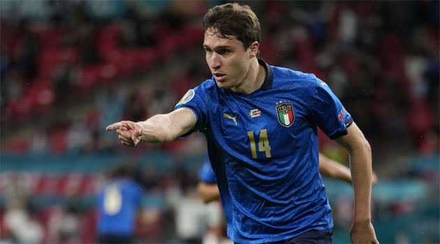 Chiesa a marcat primul gol al meciului Italia - Austria de la EURO 2020