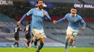 Bernardo Silva, gol pentru Manchester City în meciul cu Aston Villa