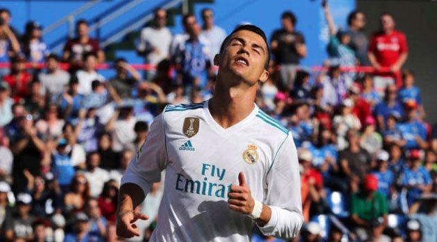 Cristiano Ronaldo, decisiv pentru Real Madrid pe terenul lui Getafe