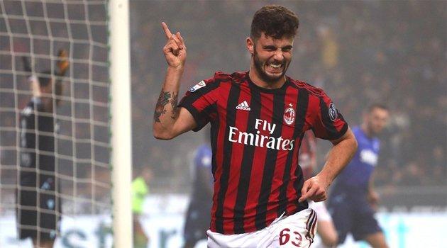 Patrick Cutrone a deschis scorul în meciul AC Milan - Lazio 2-1