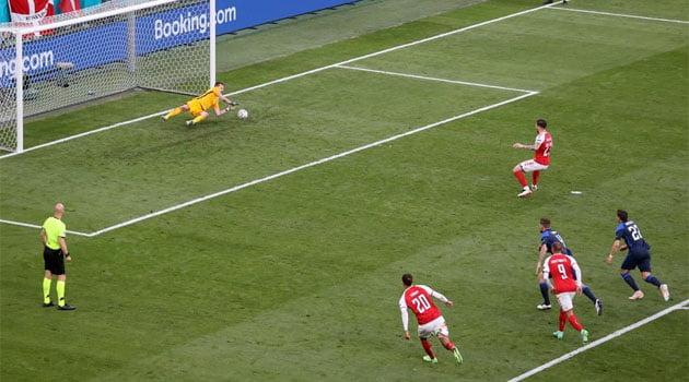Danemarca a ratat un penalty în meciul cu Finlanda de la EURO 2020