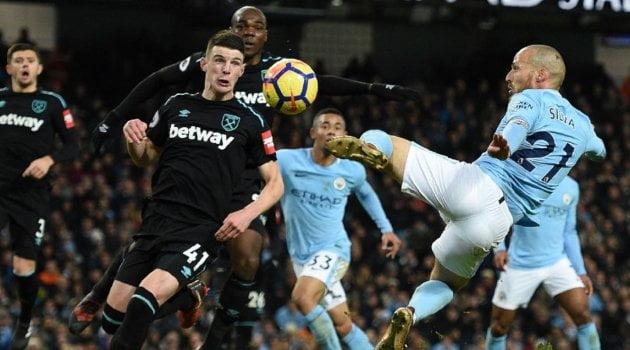 David Silva a marcat golul decisiv al meciului Manchester City - West Ham 2-1