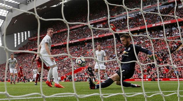 Intervenția lui David de Gea a păstrat neatinsă poarta lui Man United în meciul cu Liverpool