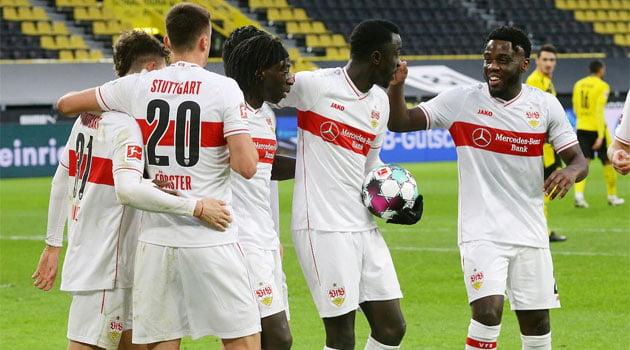 VfB Stuttgart în victoria clară de la Dortmund, scor 5-1