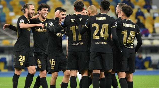 FC Barcelona în victoria din Ucraina, 4-0 cu Dynamo Kiev (noiembrie 2020)