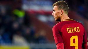 Edin Dzeko a înscris în meciul Sampdoria - AS Roma 1-1
