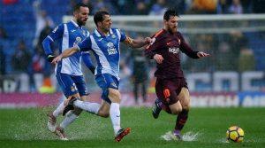 Ploaia torențială, principalul detaliu al meciului Espanyol - Barcelona 1-1