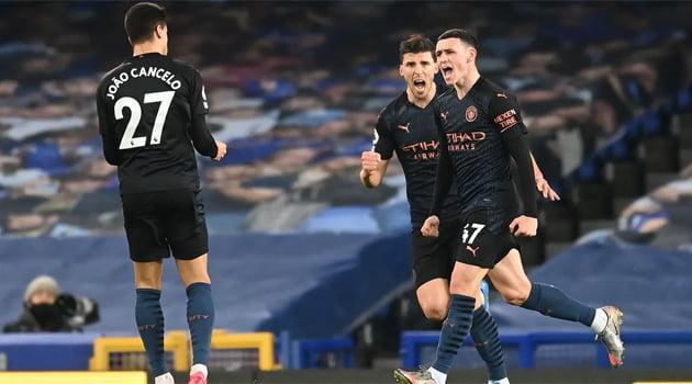 Phil Fodden, marcator în meciul Everton - Manchester City 1-3