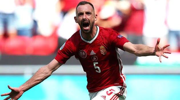 Attila Fiola, marcator în meciul Ungaria - Franța 1-1 de la EURO 2020