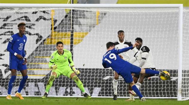 Mason Mount a marcat unicul gol al meciului Fulham - Chelsea (16 ianuarie 2021)