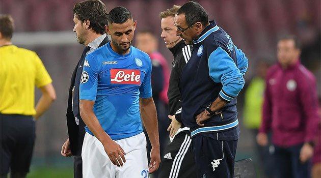 Faouzi Ghoulam, accidentat în meciul Napoli - Manchester City