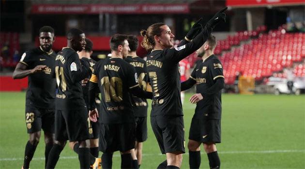 FC Barcelona, în victoria de la Granada (4-0, 8 ianuarie 2021)
