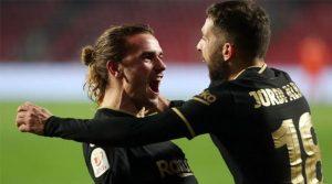 Griezmann și Jordi Alba, doi dintre eroii Barcelonei în meciul cu Granada (5-3) din Copa del Rey