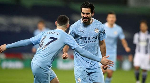 Ilkay Gundogan în meciul West Brom - Manchester City 0-5 (26 ianuarie 2021)