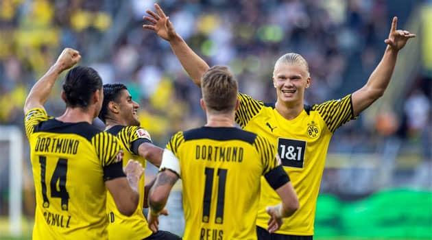 2 goluri și 3 assisturi pentru Haaland în primul meci din Bundesliga 2021-2022