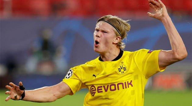 Erling Haaland, în meciul Sevilla - Dortmund 2-3
